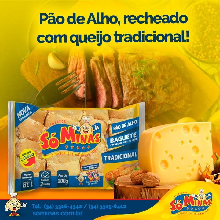 Pão de Alho, recheado com queijo tradicional!